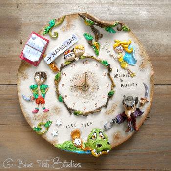 Ceramic Wall Clock - Peter Pan Design
