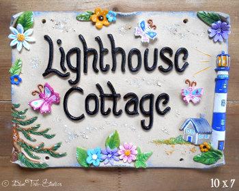 House Sign Ceramic - Lighthouse Design