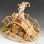 Ceramic Sculpture - Billy Goats Gruff-3