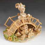 Ceramic Sculpture - Billy Goats Gruff-4