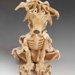 Ceramic Sculpture - Wolf in Sheeps Clothing