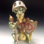 Dudley Dragon Knight - Ceramic Sculpture