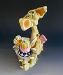 Puff Pastry Dragon - Ceramic sculpture (1)