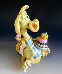 Puff Pastry Dragon - Ceramic sculpture (3)