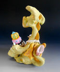 Puff Pastry Dragon - Ceramic sculpture (5)