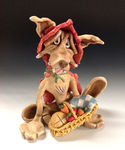 Ceramic Sculpture - Red Riding Hood