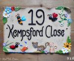 House sign ceramic - Rectangle 9 x 6 Kempsford