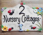 House Sign Ceramic - Bridge Top 9 x 6 Nursery Cottages