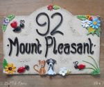House sign ceramic - Bridge top 10 x 7 Mount Pleasant
