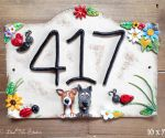 House Number Ceramic - Bridge Top 10 x 7 - 417