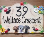 House sign ceramic - Bridge top 10 x 7 Wallace Crescent
