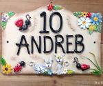 House Sign Ceramic - Bridge Top 9 x 6 10 Andreb