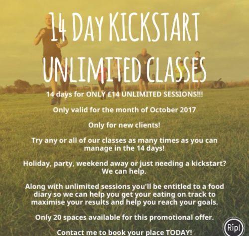 14 Day KICKSTART UNLIMITED CLASSES