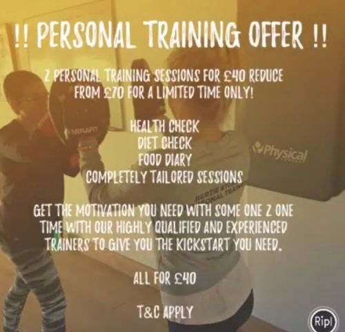 2 Personal Training Sessions for £40