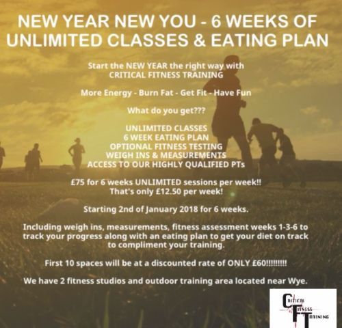 New Year New You 6 Week Unlimited Sessions & Food Plan