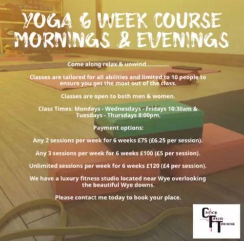 1 Yoga Session Per Week