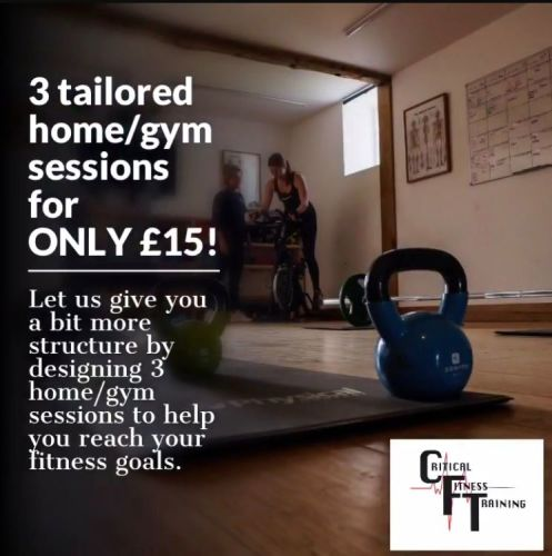 3 home/gym sessions