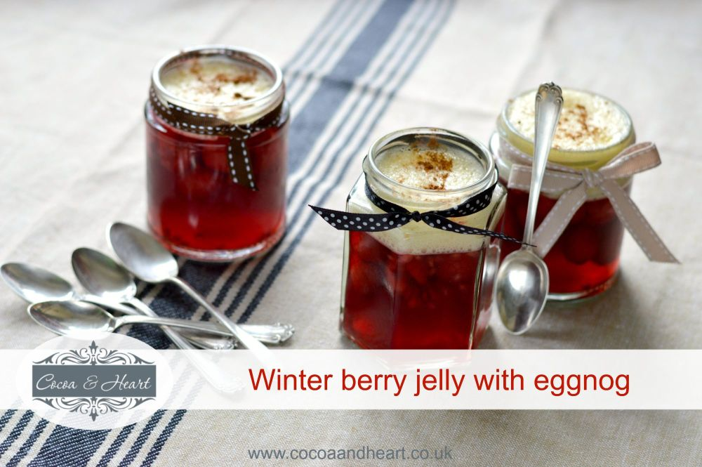 Winter berry jelly with eggnog