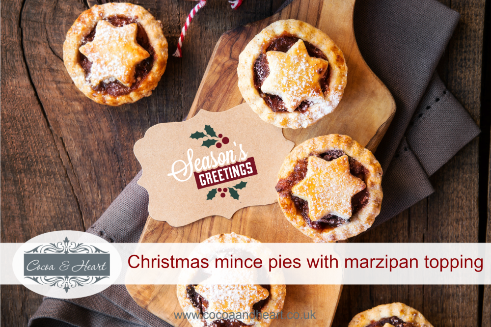 Christmas mince pies with a marzipan topping recipe