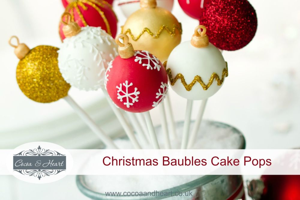 Christmas Baubles Cake Pops
