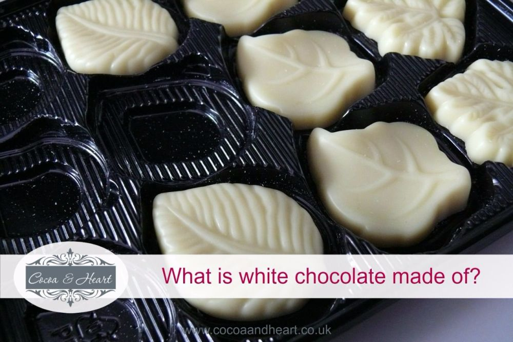 what is white chocolate made of