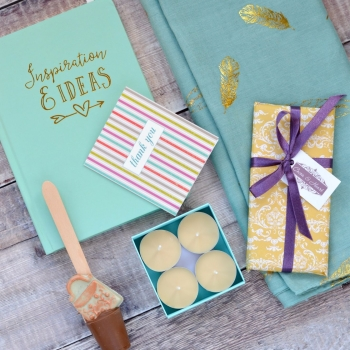 Turquoise & Gold Thank you Gift Box