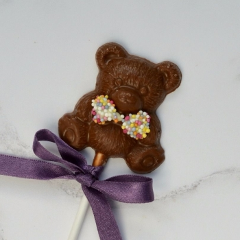 Chocolate Teddy Bear Lollipop