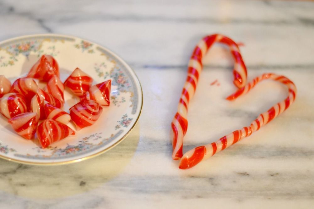 Candy cane recipe - finished candy