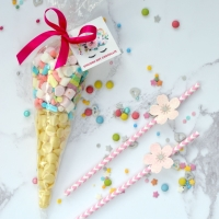 Unicorn Hot Chocolate Cone