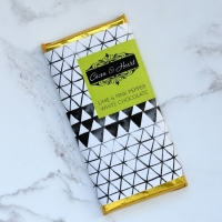 Lime & Pink Pepper White Chocolate Bar