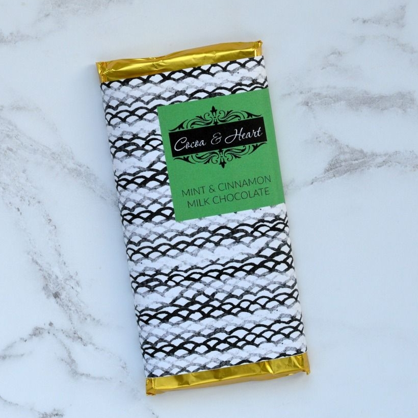 Mint & Cinnamon Milk Chocolate Bar