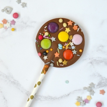 Chocolate Lollipop with Colourful Chocolate Beans