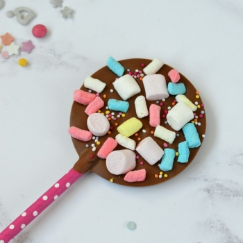 Chocolate Lollipop with Mini Marshmallows