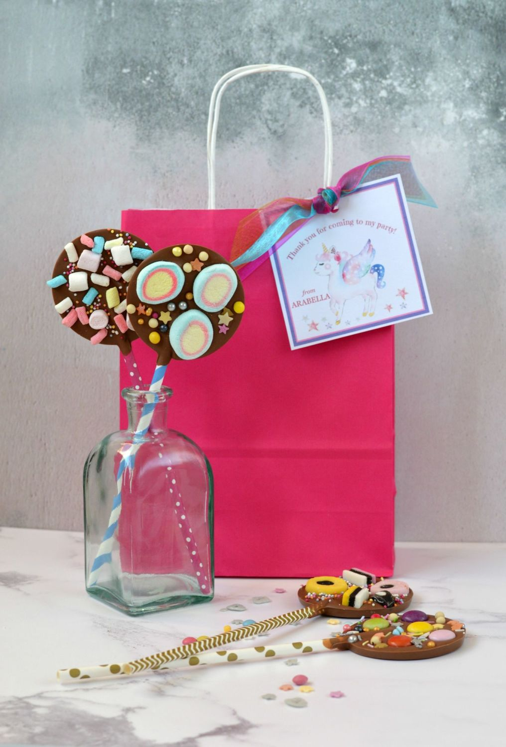Chocolate Lollipops & Party Bag