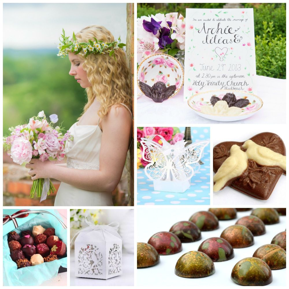 Cocoa & Heart Chocolate Wedding Favours Ideas