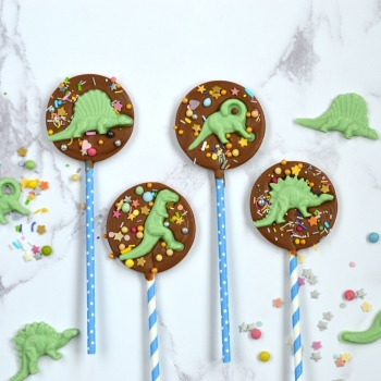 Chocolate Dinosaur Lollipops