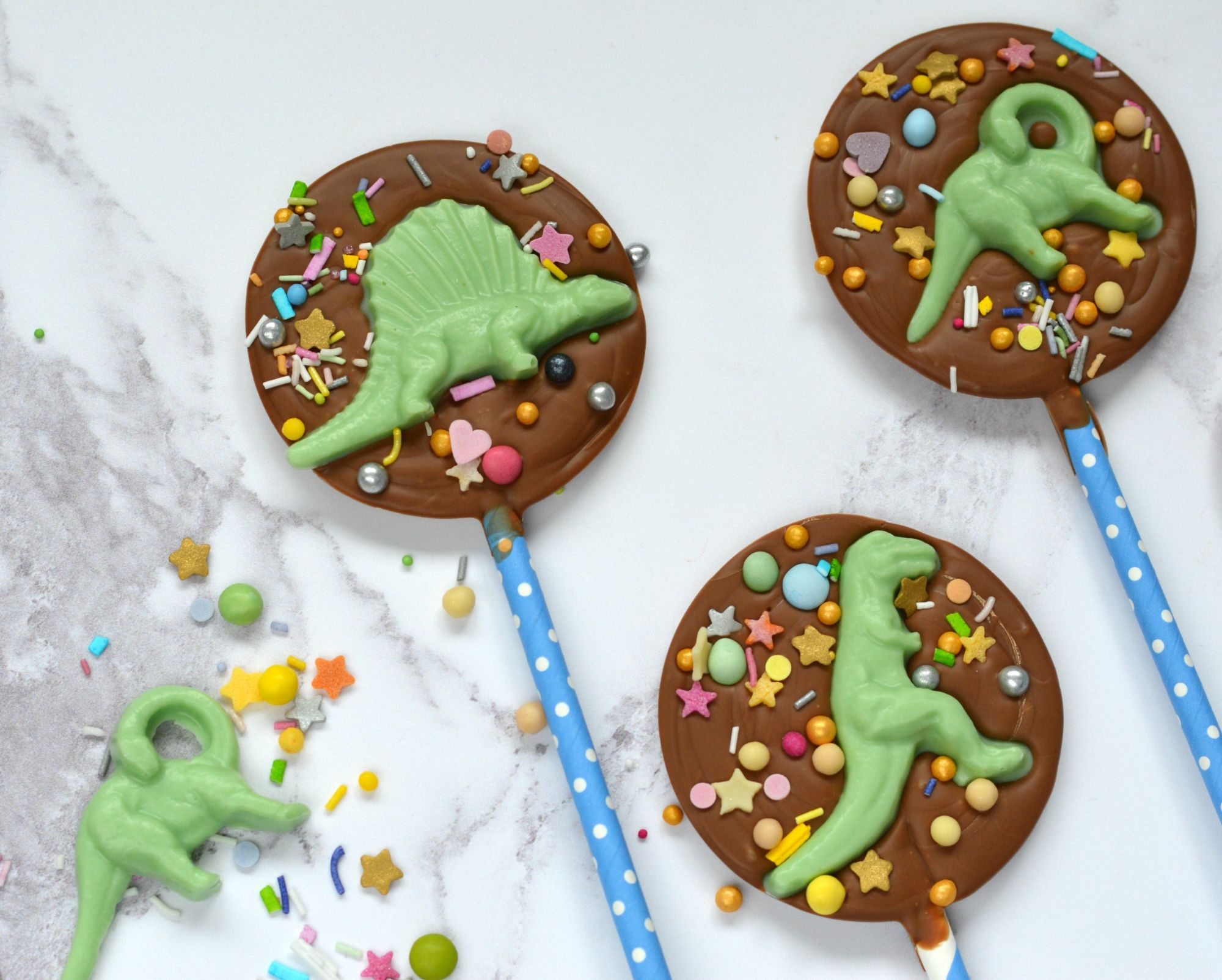 Dinosaurs Chocolate Lollipops