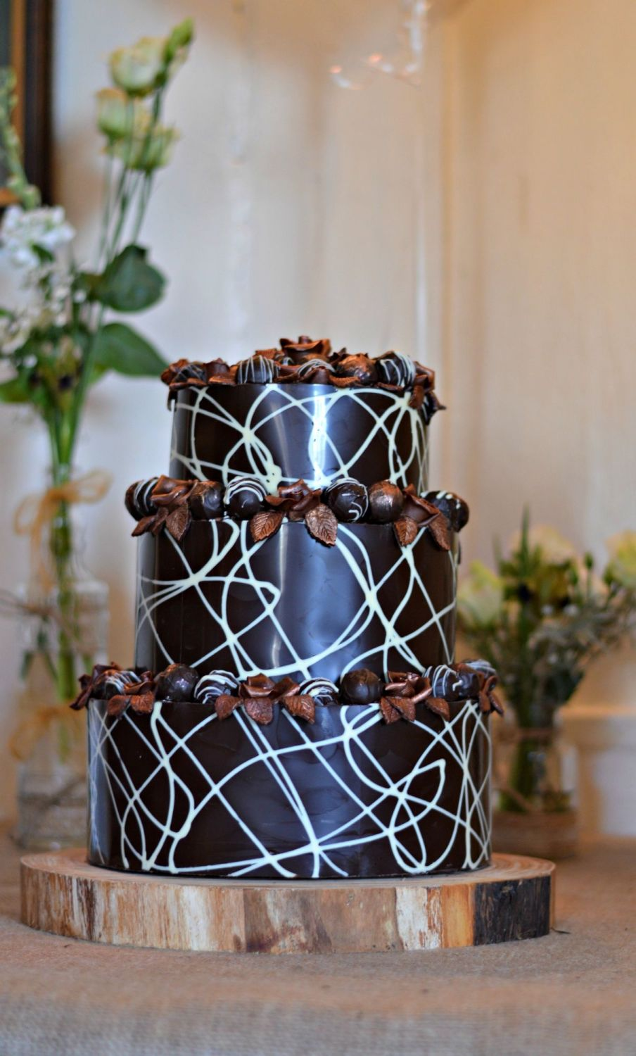 Chocolate Wedding Cake from the side