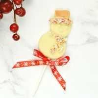 Christmas Snowman Chocolate Lollipop
