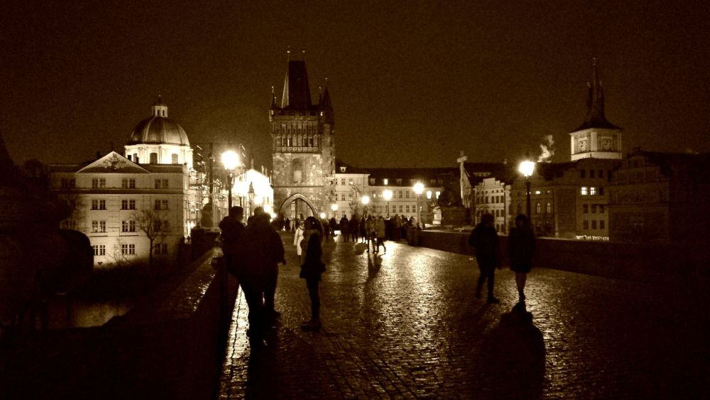Charles Bridge - Prague at night