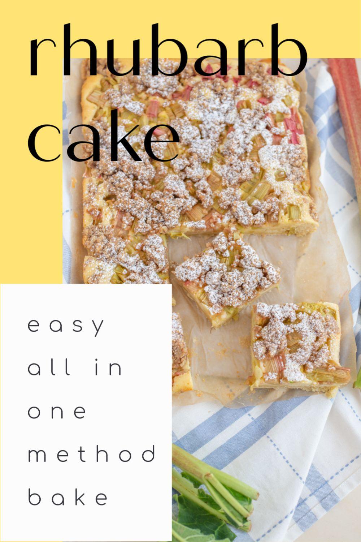 Simple Rhubarb Cake Recipe