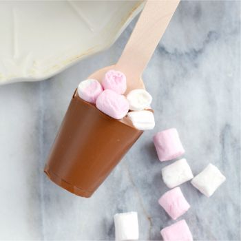 Hot Chocolate Spoon with Marshmallows
