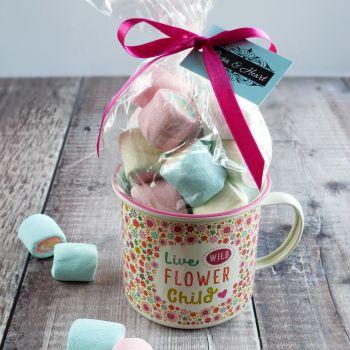 'Flower Child' Hot Chocolate Mug Gift Set