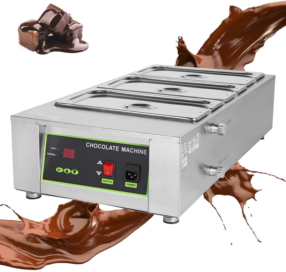 Chocolate Tempering Machine - 3 vats