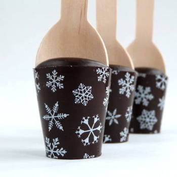 Christmas Hot Chocolate Spoon with Snowflake Decoration