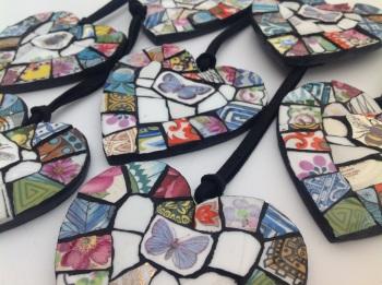 Patchwork Heart Hangers