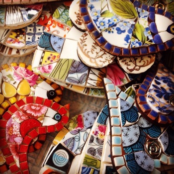 ungrouted hearts and birds
