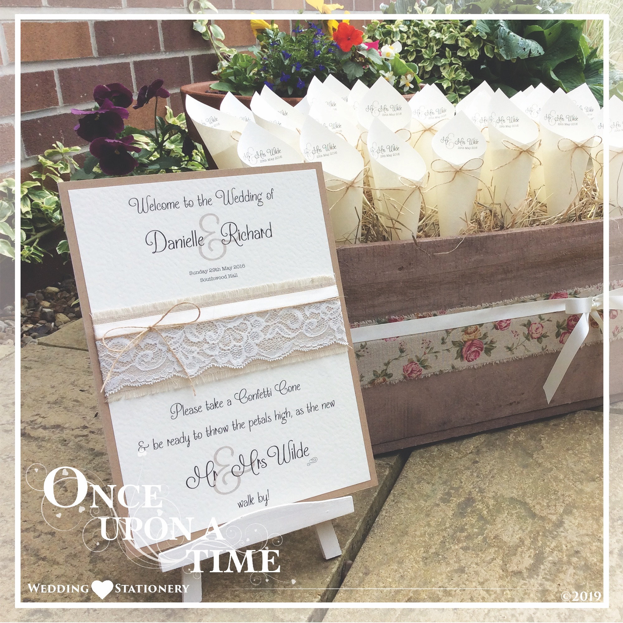 On The Day Venue Wedding Stationery