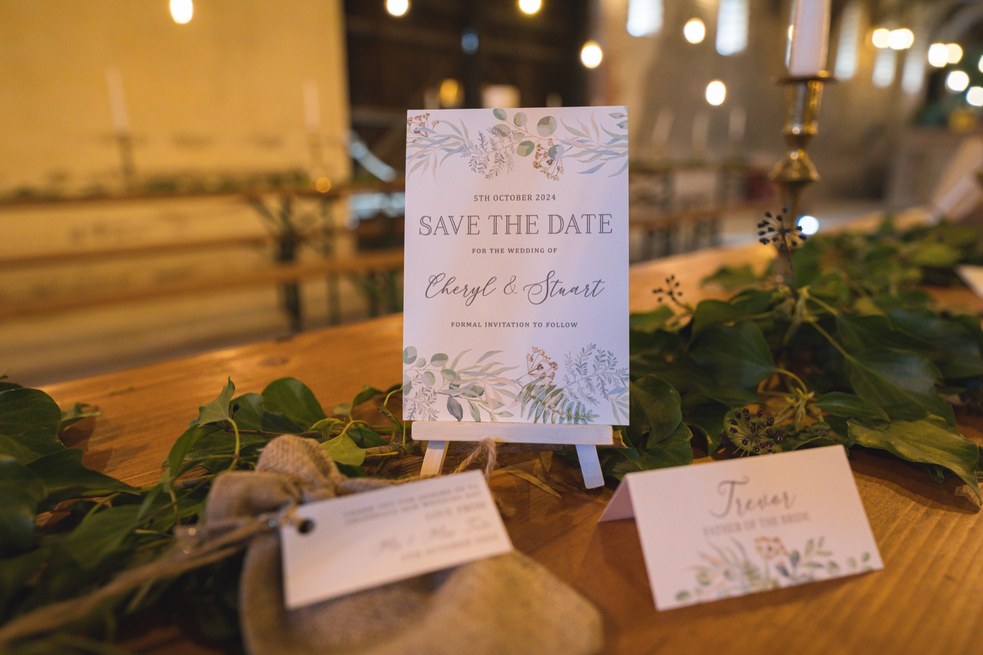 Save The Date Card Place Card