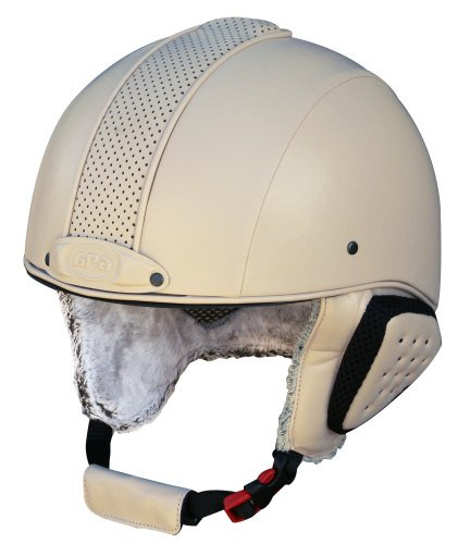GPA Legend Synthetic Leather Ski Helmet - Beige £320.00 (Exc VAT) or £384.0